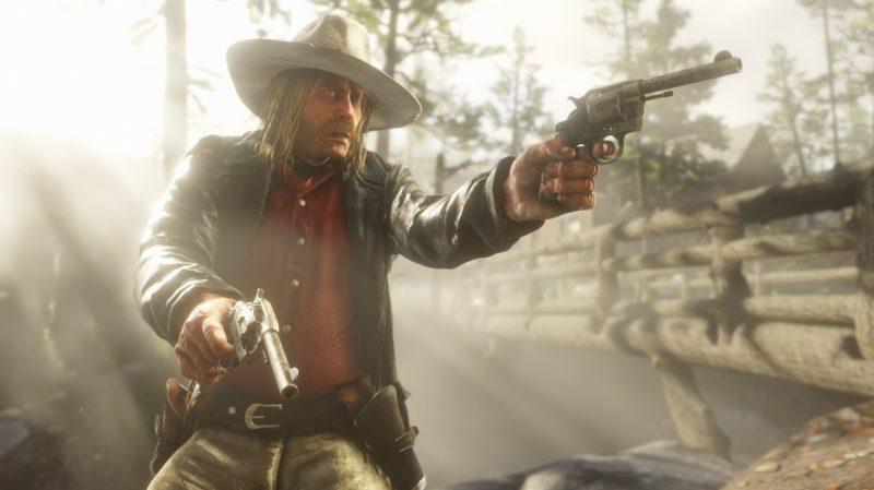 Red Dead Redemption 2 - lueur, gunfight, forêt