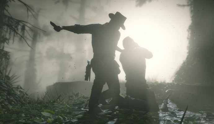 Red Dead Redemption - ombre, forêt, exécution