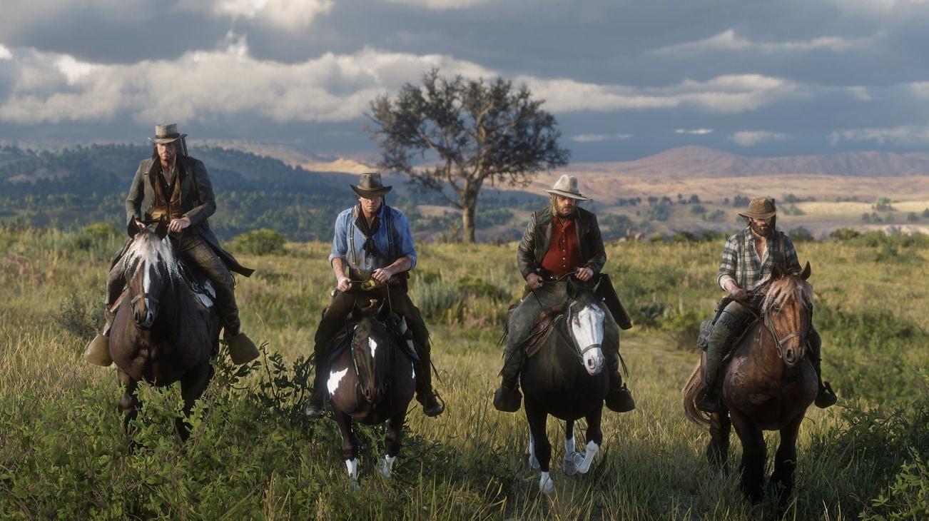 Red Dead Redemption 2 - Cavaliers, bandits, contrée, vaste