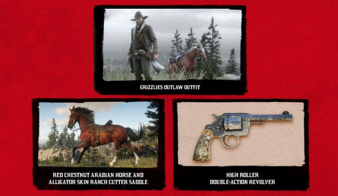 Red Dead Redemption 2 contenu exclusif PS4