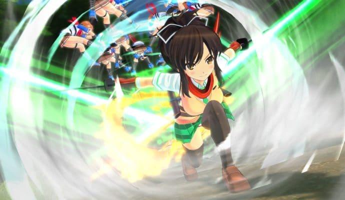 Senran Kagura Burst Re: Newal Asuka combat
