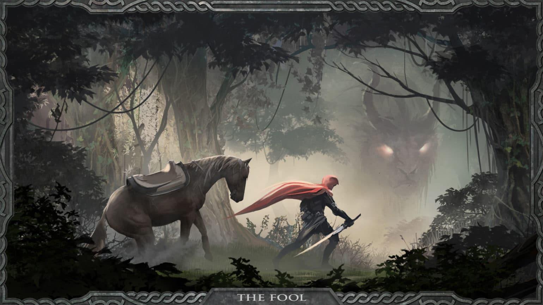 Shadowgate forêt cheval dragon