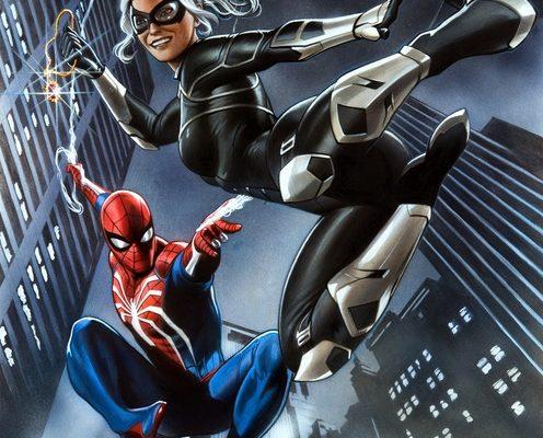 spider-man the heist spidey black cat