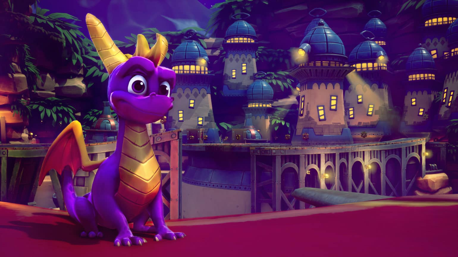 spyro: reignited trilogy dragon devant ville