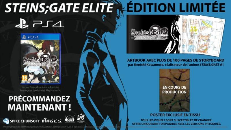 Steins;Gate Elite édition limitée PS4