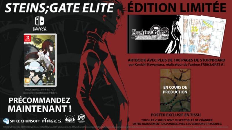Steins;Gate Elite édition limitée Switch