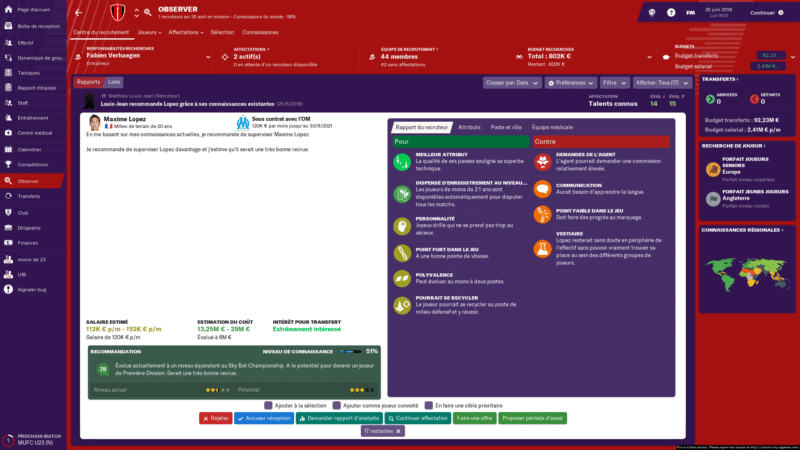 Football Manager 2019 - interface 3