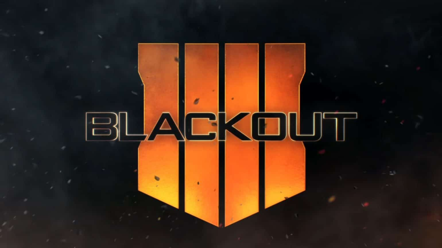 test call of duty: black ops 4 blackout titre logo