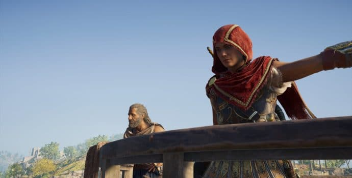 Assassin's Creed Odyssey Kassandra et Barnabas