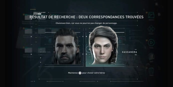 Assassin's Creed Odyssey choix héros