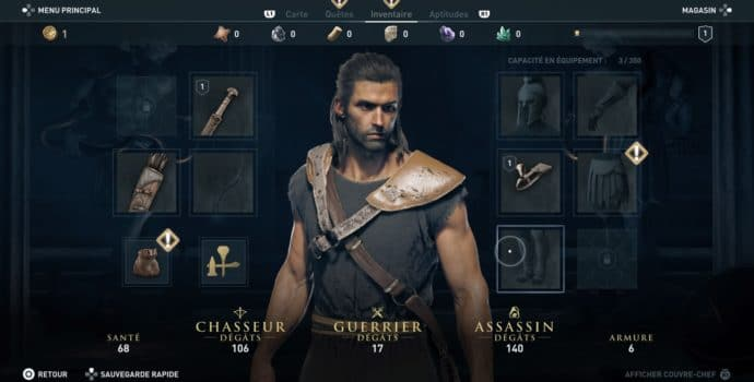 Assassin's Creed Odyssey menu
