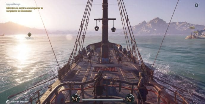 Assassin's Creed Odyssey phase en navire