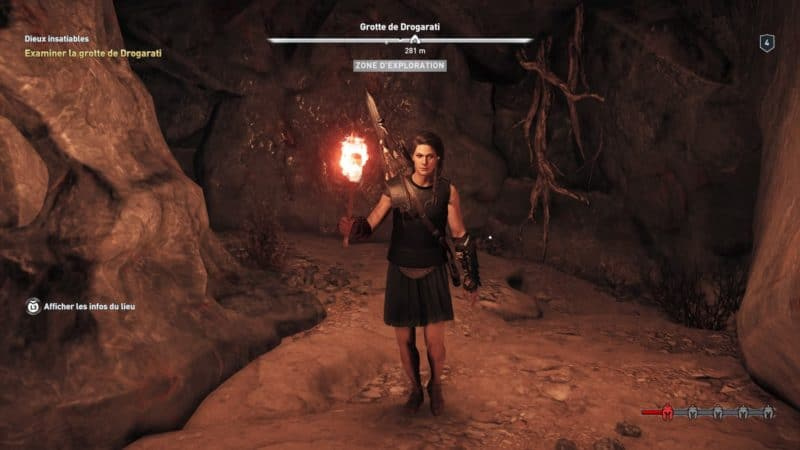 Assassin's Creed Odyssey exploration grotte
