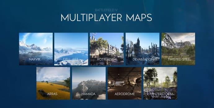 Battlefield V - Les cartes du multijoueurs