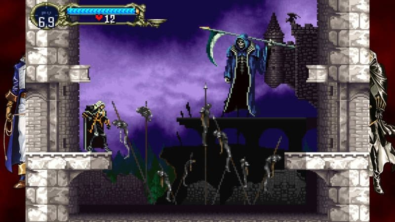 test castlevania requiem symphony of the night & rondo of blood alucard death