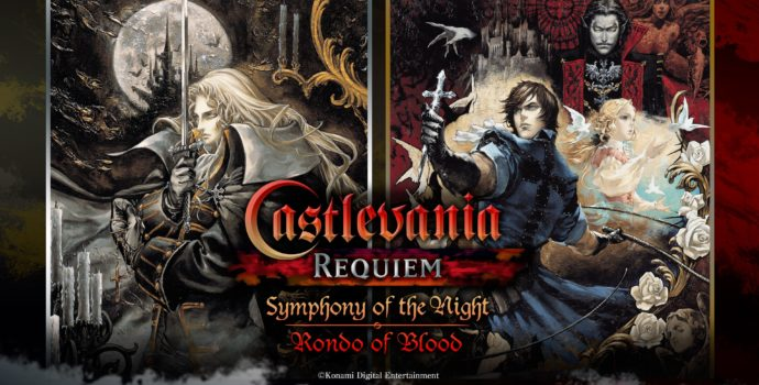 test castlevania requiem symphony of the night & rondo of blood logo titre