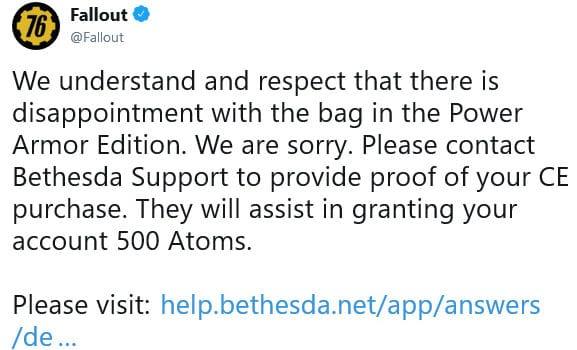 Fallout 76 twitter