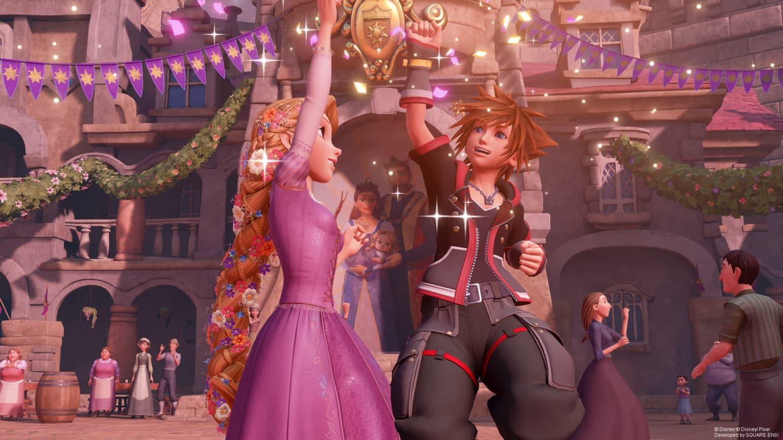 Kingdom Hearts III Sora et Raiponce