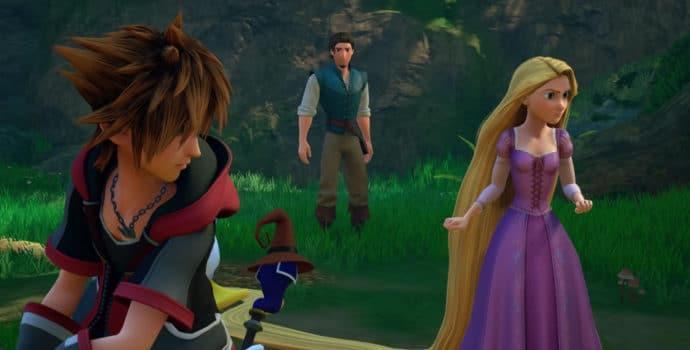 Kingdom Hearts III Sora, Raiponce et Flynn