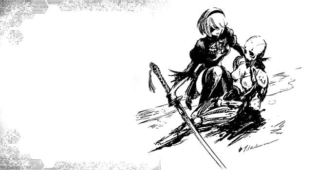 NieR Automata Short Story Long, le roman contient quelques illustrations inédite (1)