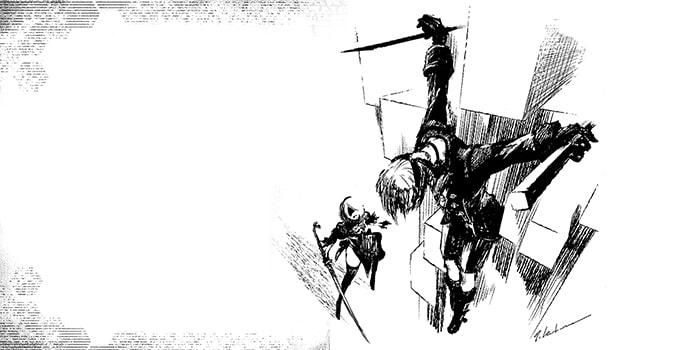 NieR Automata Short Story Long, le roman contient quelques illustrations inédite (2)