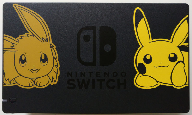 Nintendo Switch Edition Pikachu et Evoli - dock décoré