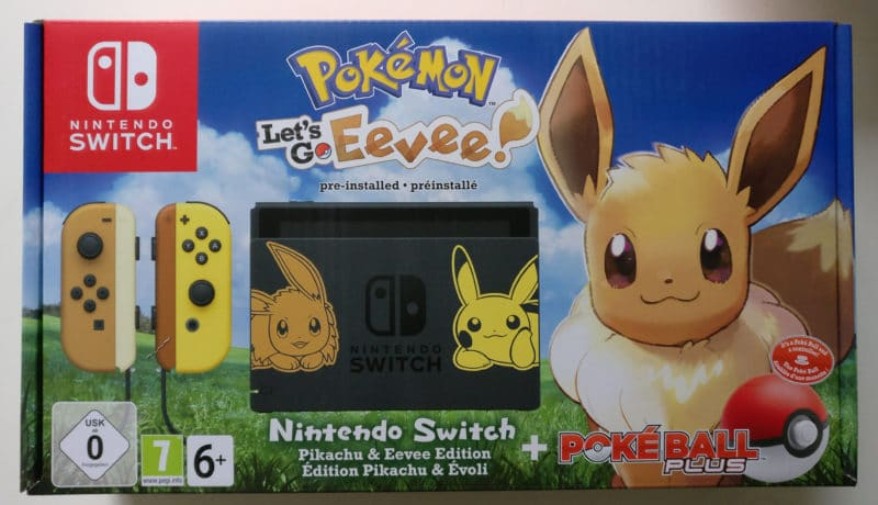 Nintendo Switch Edition Pikachu et Evoli - packaging recto