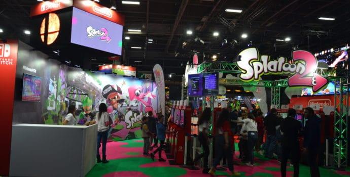 Paris Games Week stand Nintendo Splatoon 2
