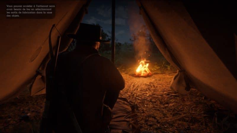Red Dead Redemption 2 - Repos dans la tente