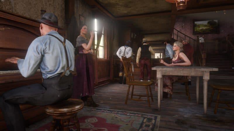 Red Dead Redemption 2 - Intérieur du saloon