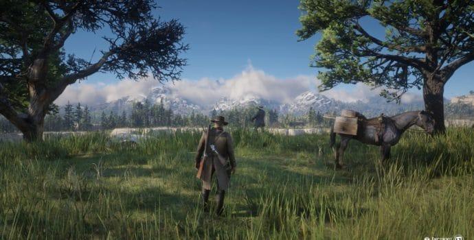 Red Dead Redemption 2 - Paysage verdure et montagne