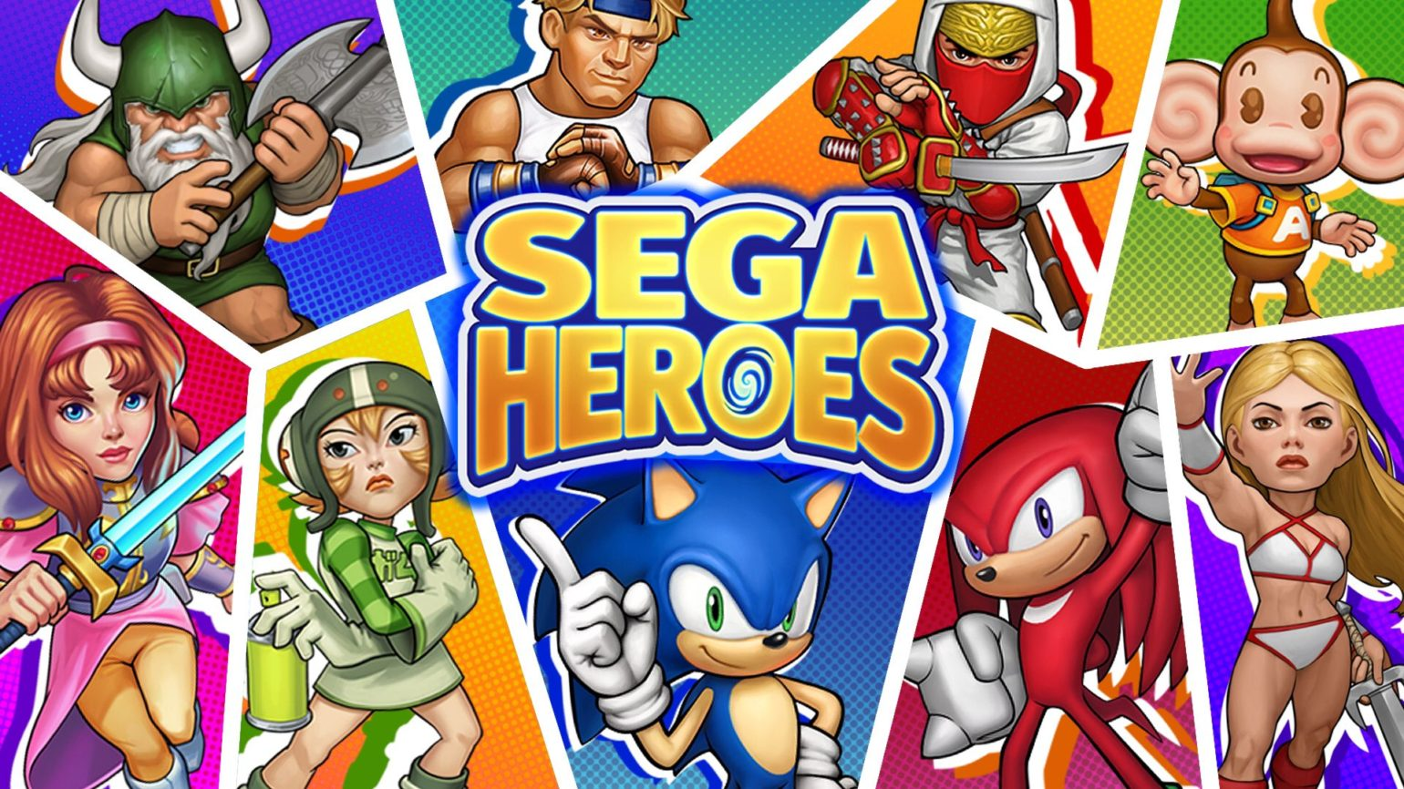 SEGA Heroes logo personnages