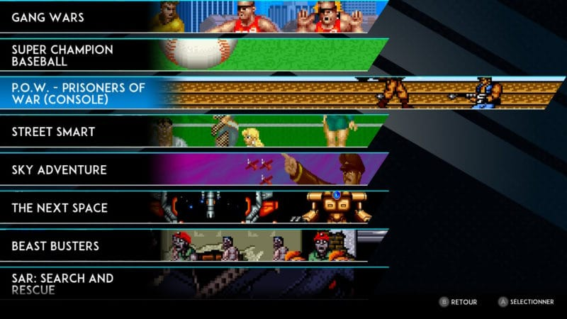 SNK 40th Anniversary Collection - Des menus clairs
