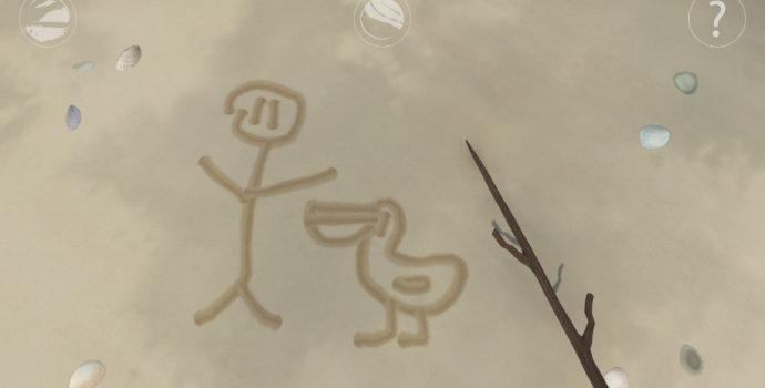 Storm Boy: The Game - dessin dans le sable