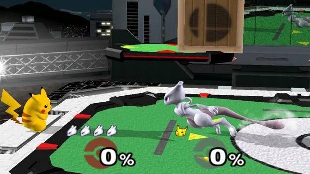 Super Smash Bros. Pikachu Mewtwo
