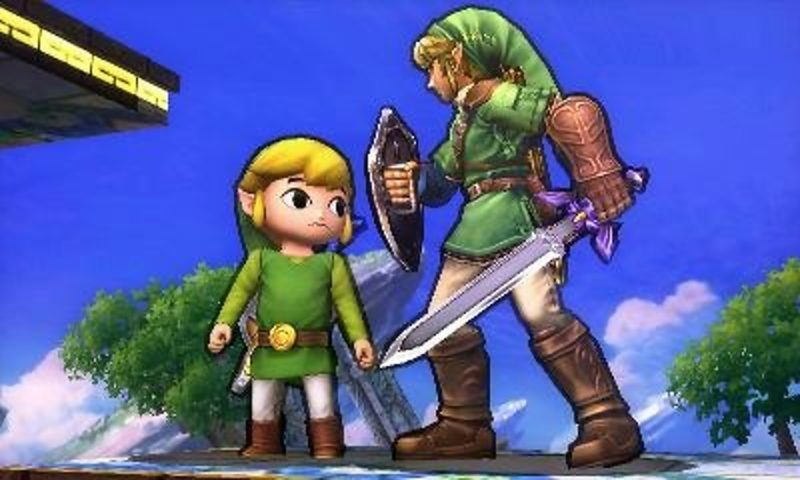 Super Smash Bros. for Nintendo 3DS - Link et Link Cartoon