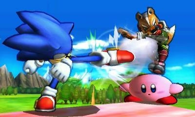 Super Smash Bros. for Nintendo 3DS - Sonic contre Kirby