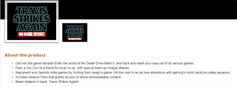 Travis Strikes Again: No More Heroes - Amazon détails