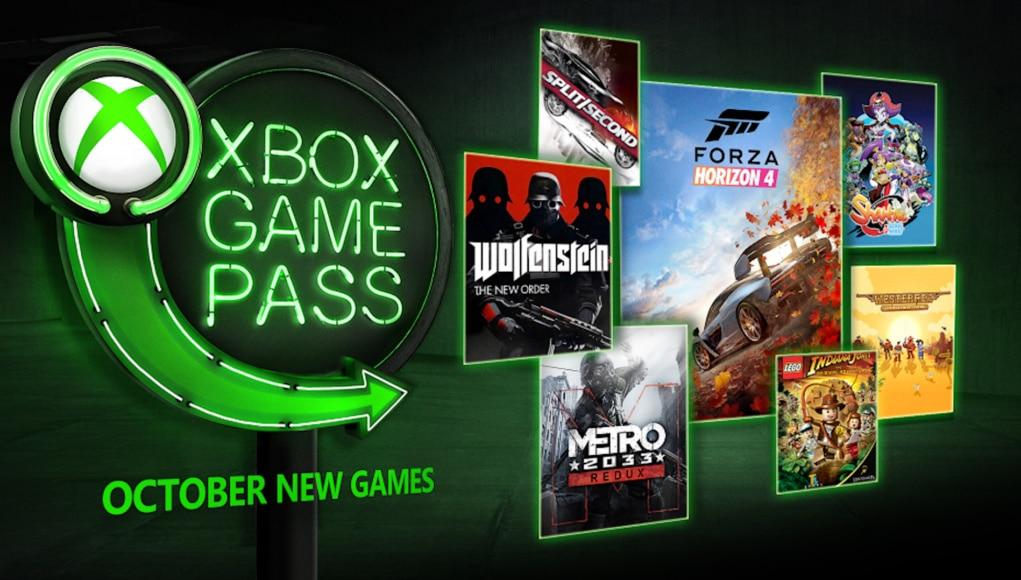 Xbox Game Pass - Jeux d'octobre