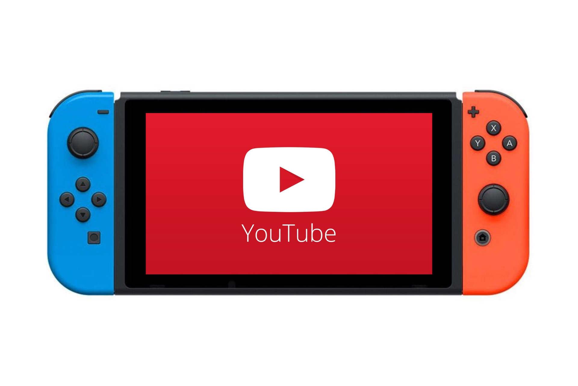 YouTube dans ta Switch