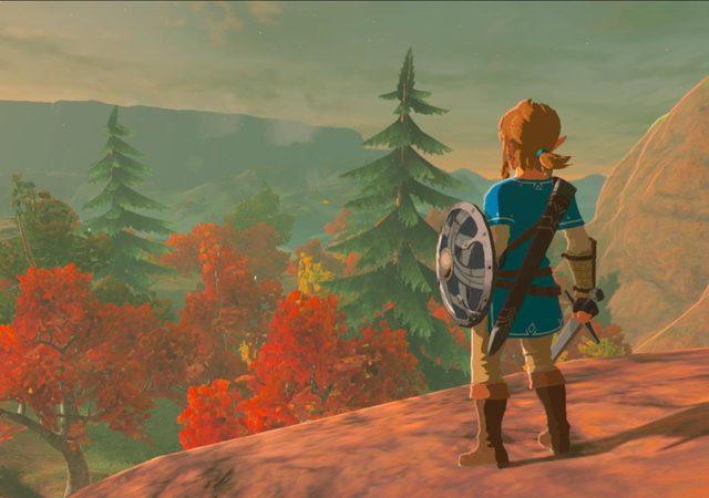Legend of Zelda - link sur une colline