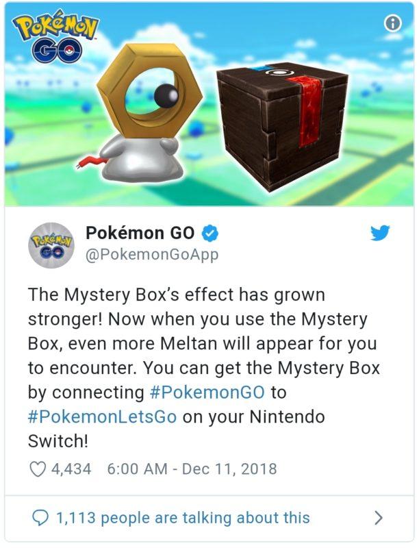 Pokémon GO - Mystery Box Tweek