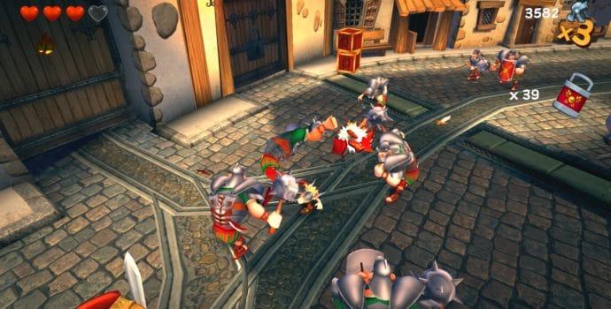 Astérix et Obélix XXL 2 combat contre des romains