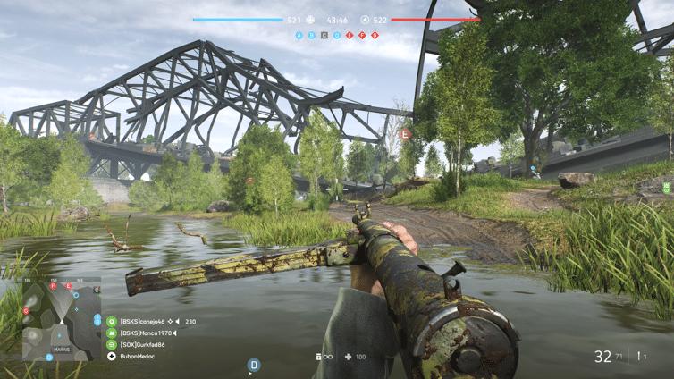 Battlefield V - Pont détruit