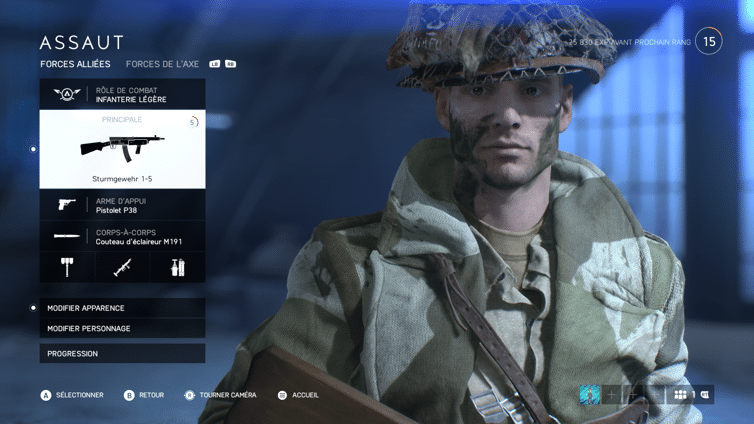Battlefield V - Personnalisation de l'Assaut