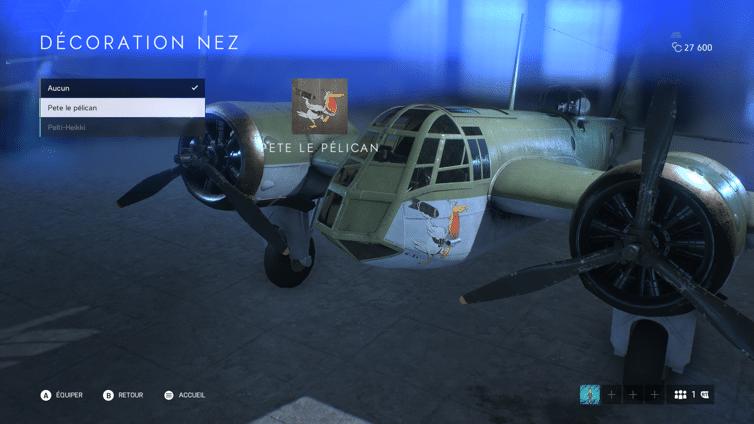 Battlefield V - Pesonnalisation d'un avion