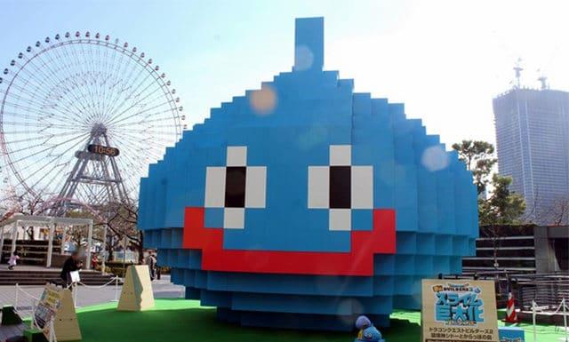 Dragon Quest Builders 2 sculpture géante à Yokohama
