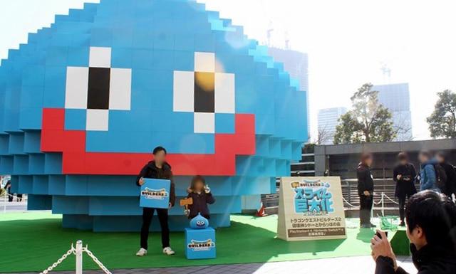 Dragon Quest Builders 2 sculpture géante à Yokohama Site touristique