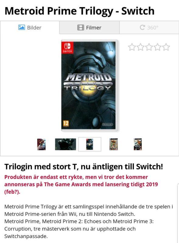 Metroid Prime Trilogy - page boutique
