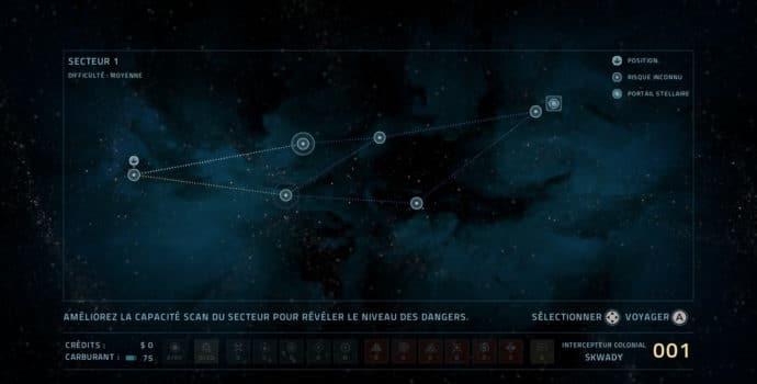 Everspace - Stellar Edition - carte de navigation